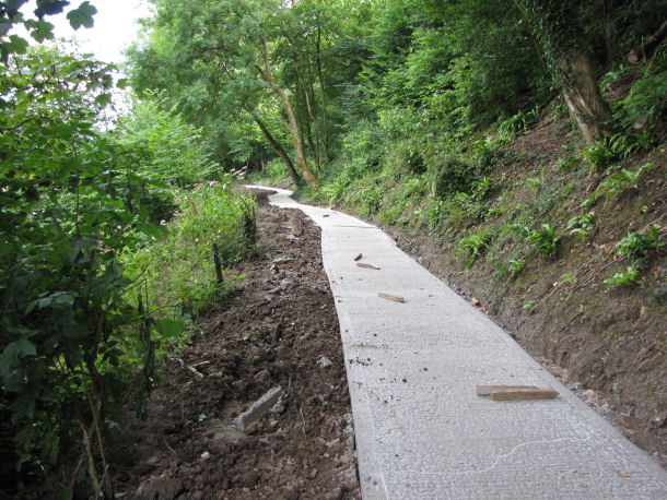 new path in concrete 180M long